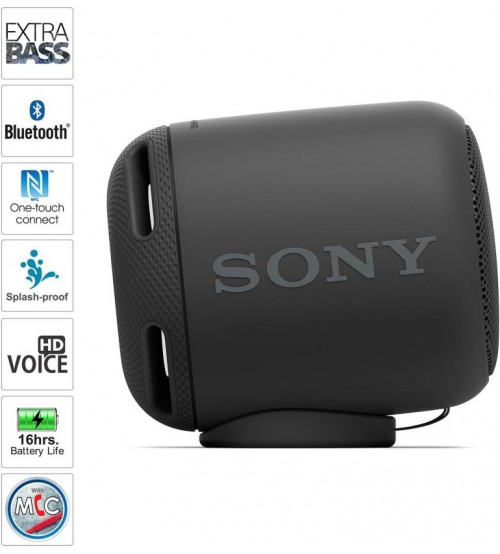 Sony SRS-XB10/BC Portable Bluetooth Speaker, Mono Channel, Black